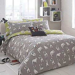 Ben de Lisi Home - Grey 'Sketchy Dog' bedding set