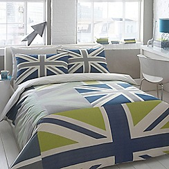 Ben de Lisi Home - Designer blue 'Union Jack' bedding set