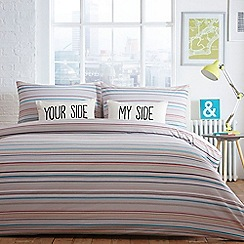 Ben de Lisi Home - 'Boston' white striped bedding set