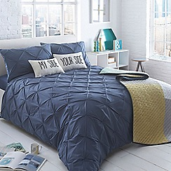 Ben de Lisi Home - Navy 'Brooklyn Navy' diamond bedding set