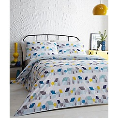 Ben de Lisi Home - Grey printed 'Houses' bedding set