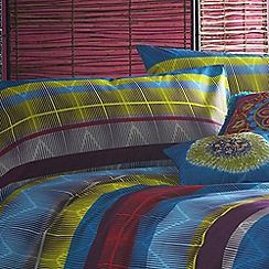 Butterfly Home by Matthew Williamson - Multi-coloured 220 thread count 'Tribal' pillow case pair