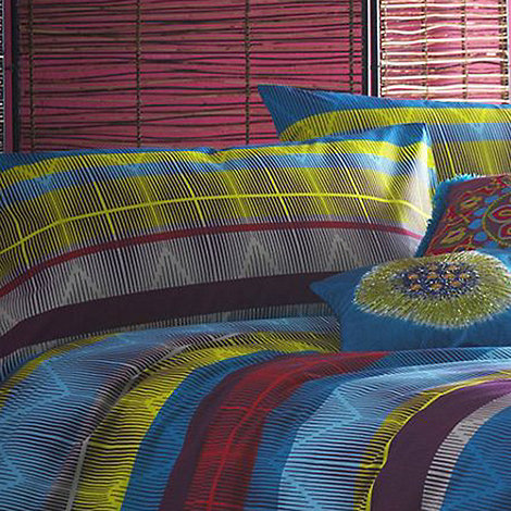 Butterfly Home by Matthew Williamson - Multi-coloured 220 thread count +Tribal+ pillow case pair