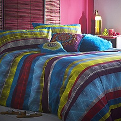Butterfly Home by Matthew Williamson - Multi coloured 'Tribal Striped' bed linen