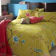 Green 'Chinoise' bed linen