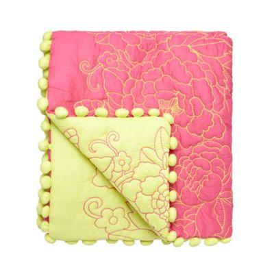 Butterfly Home by Matthew Williamson Designer ´frida´ pink embroidered pom poms trim - . -