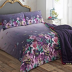 Butterfly Home by Matthew Williamson - Designer purple butterfly garden bedding set