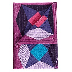 Butterfly Home by Matthew Williamson - Designer purple patchwork throw