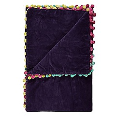 Butterfly Home by Matthew Williamson - Designer purple pom pom throw