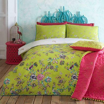 Butterfly Home By Matthew Williamson Lime 39 Enchanted Garden 39 Bedding Set Debenhams