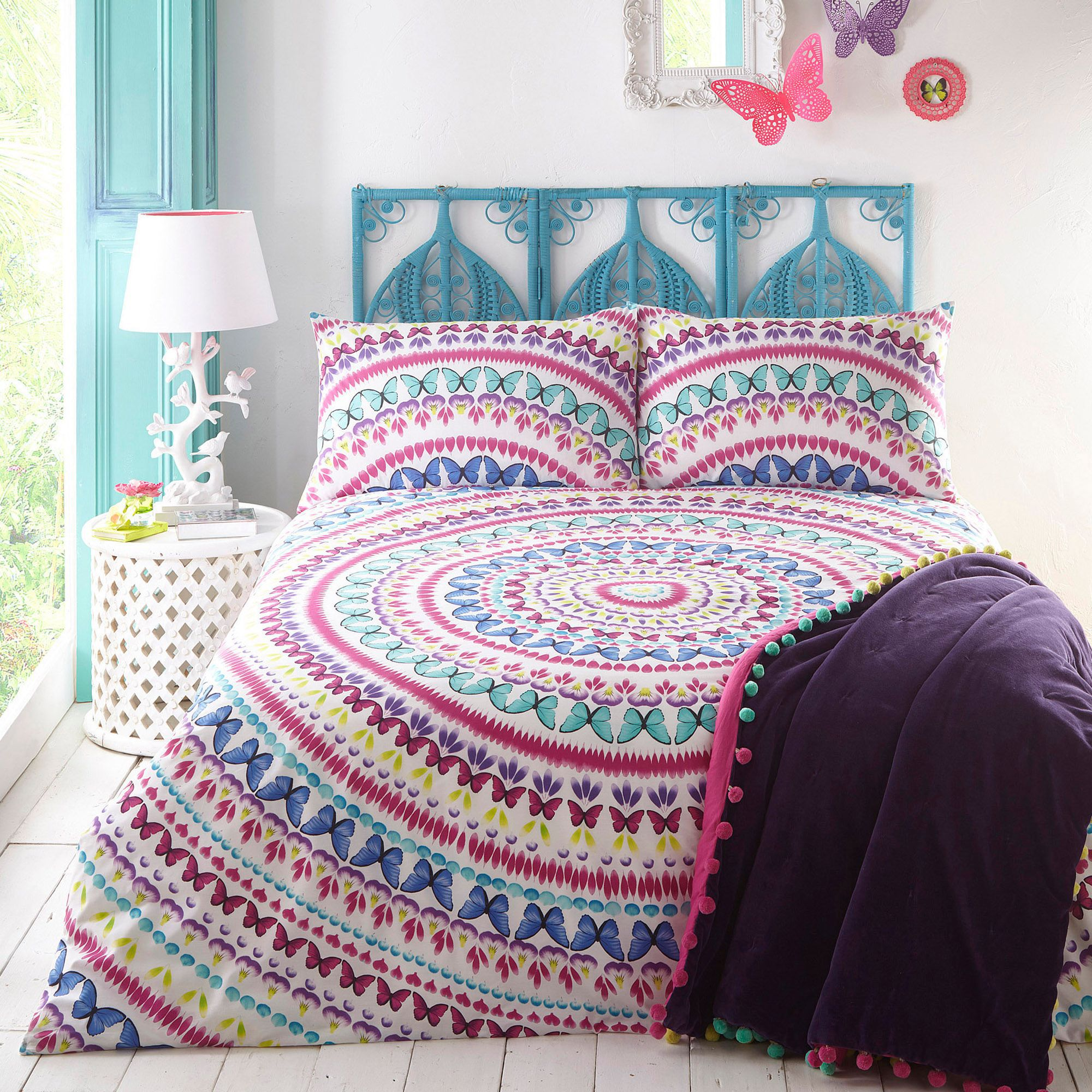 Butterfly Home By Matthew Williamson Multi Coloured 39 Elina 39 Bedding Set Ebay