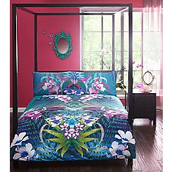 Butterfly Home by Matthew Williamson - Green peacock print 'Shayna' bedding set