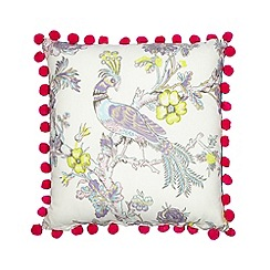 Butterfly Home by Matthew Williamson - Designer green peacock cushion