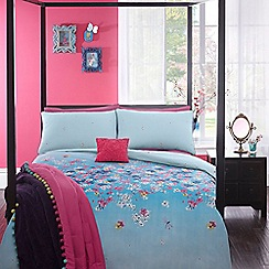 Butterfly Home by Matthew Williamson - Designer blue 'Cherry Blossom' bedding set