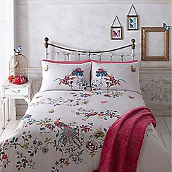 Butterfly Home by Matthew Williamson - Designer white 'Portobello' print bedding set