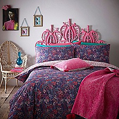 Butterfly Home by Matthew Williamson - Designer dark purple 'Winter Paisley' bedding set