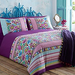 Butterfly Home by Matthew Williamson - Designer purple floral bedding set