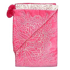 Butterfly Home by Matthew Williamson - Pink paisley velvet runner