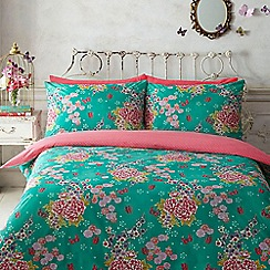 Butterfly Home by Matthew Williamson - Aqua floral bedding set
