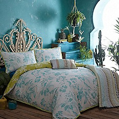 Butterfly Home by Matthew Williamson - Lime floral print 'Tropical' bedding set