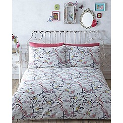 Butterfly Home by Matthew Williamson - Cream printed 'Chinoise' bedding set