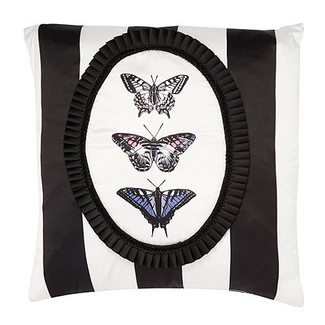 Vicki Elizabeth/EDITION - Designer black butterfly cameo cushion