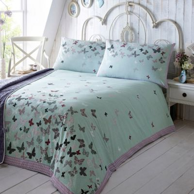 At home with Ashley Thomas Aqua ´Libby´ bed linen - . -