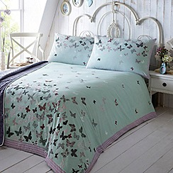 At home with Ashley Thomas - Aqua 'Libby' bed linen