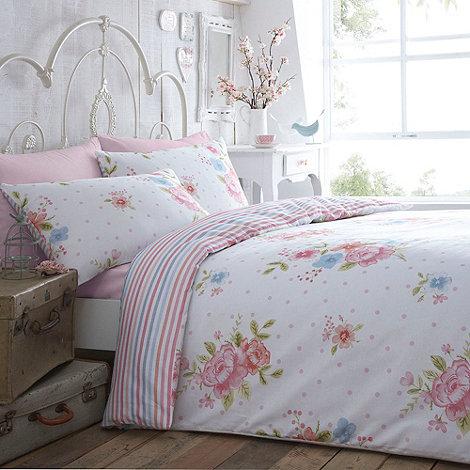 At home with Ashley Thomas - Ashley Thomas white +Vintage Rose+ bedding set