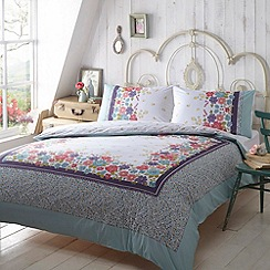 At home with Ashley Thomas - Multi-coloured floral print 'Bryony' bedding set