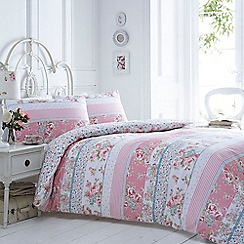 Debenhams - Multi-coloured printed motif 'Hallie' bedding set