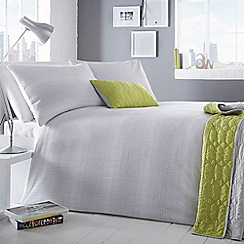 Ben de Lisi Home - Grey woven detail 'Astoria' duvet cover