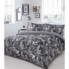 Ben de Lisi Home - Black and white printed 'Numbers' bedding set
