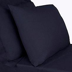 Debenhams - Navy cotton rich bed sheets