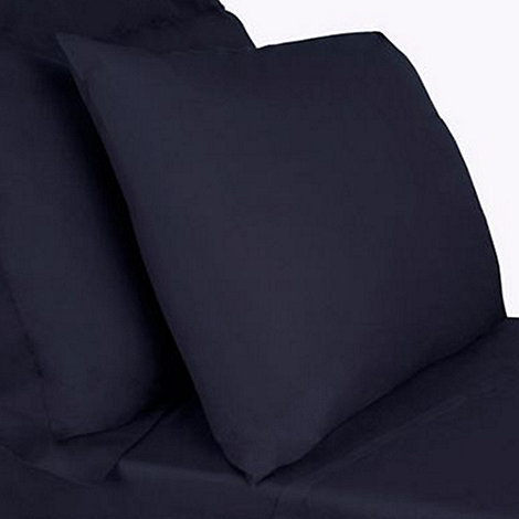 Debenhams - Navy cotton rich bed sheets