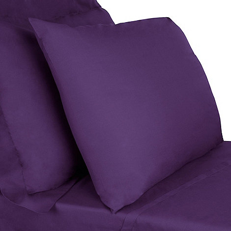 Debenhams - Purple cotton rich percale bed linen