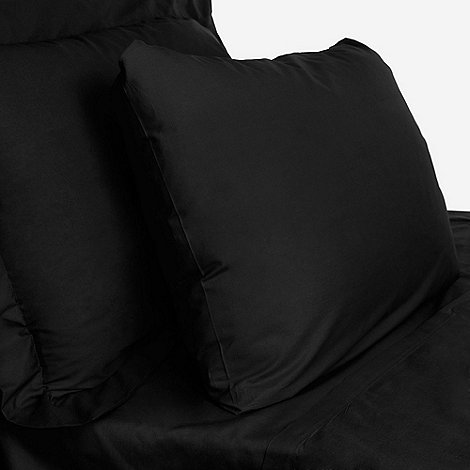 Debenhams - Black cotton rich percale fitted sheet