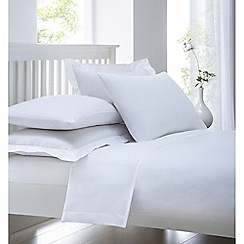 Debenhams - White cotton rich percale bed sheets