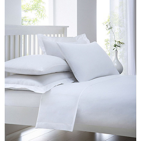 Debenhams - White cotton rich percale fitted sheet