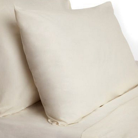 Debenhams - Cream polycotton flat sheet