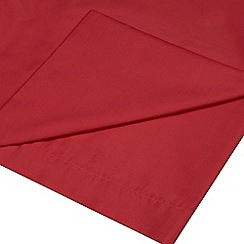 Home Collection - Red cotton rich percale flat sheet