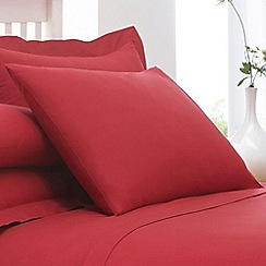Home Collection - Red cotton rich percale pillow case pair
