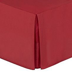 Home Collection - Red cotton rich percale valance sheet