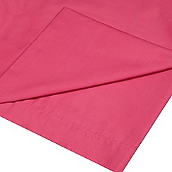 Home Collection - Pink cotton rich percale flat sheet