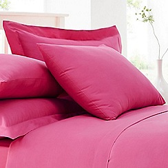 Home Collection - Pink cotton rich percale Oxford pillow case pair