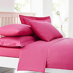 Home Collection - Pink cotton rich percale duvet cover