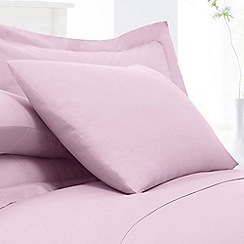Home Collection - Light pink cotton rich percale pillow case pair