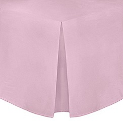 Home Collection - Light pink cotton rich percale valance sheet
