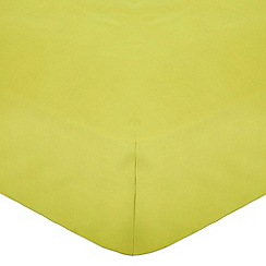 Home Collection - Lime cotton rich percale fitted sheet