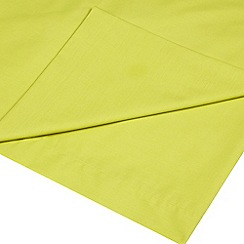 Home Collection - Lime cotton rich percale flat sheet